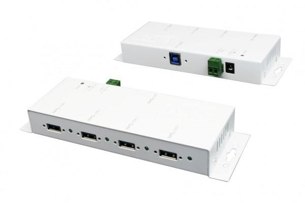 4 Ports USB 3.2 Gen1 Metall HUB mit weissem Gehäuse, 15KV ESD Überspannungs-Schutz