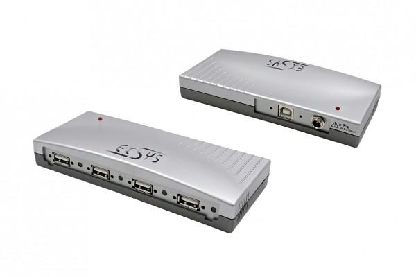 4 Port USB 2.0 HUB, Plastik-Gehäuse, Kabel verschraubbar