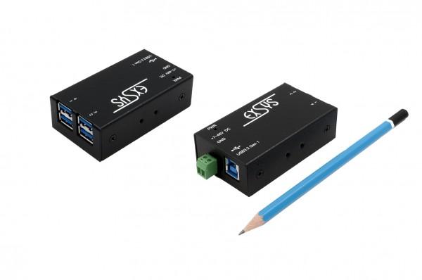 4 Port Kleinster USB 3.0 Metall HUB, 7-48V
