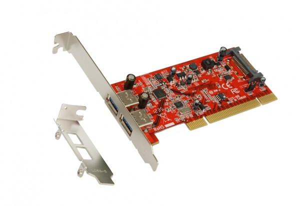USB 3.0 PCI Karte mit 2 Port (Renesas)