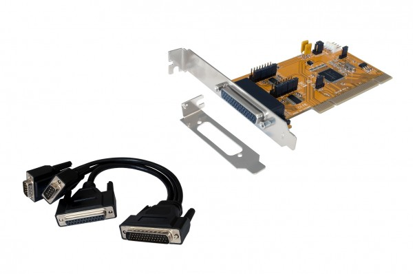 2S/1P PCI card with Octopus cable and LP Bügel