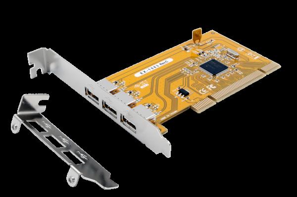 USB 2.0 PCI Karte mit 3 Ausgänge (NEC)