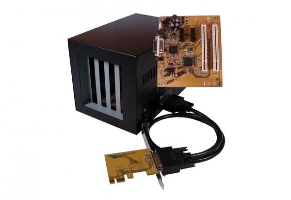 Kompakte Expansion Box PCIe zu 2 x PCI & 2 x PCIe Slots