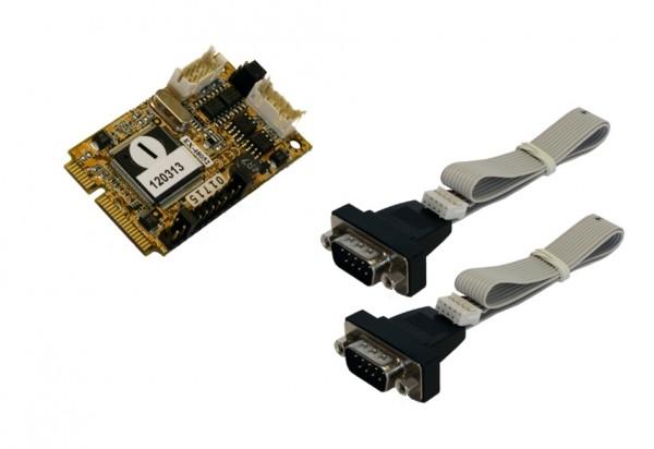 Mini PCIe 2S Seriell RS422/485 Karte (MosChip)