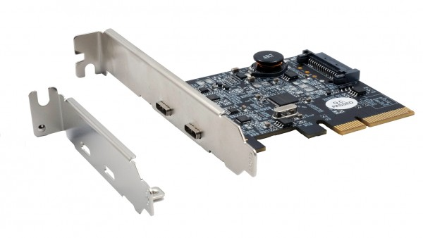 2 Port USB 3.2 Gen2 PCIe (x4) Karte mit 2x C™ Anschluss (Asmedia)