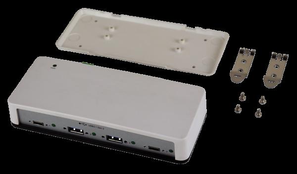 4 Port USB 3.2 Gen2 HUB mit 2 x USB-C und 2 x USB-A Ports (Überspannungs-Schutz)