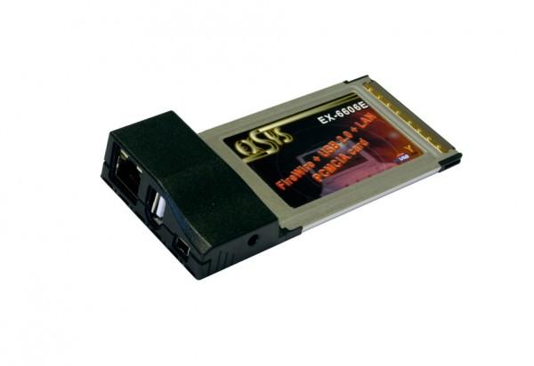 PCMCIA FireWire 1394 + USB2.0 + LAN 100Mbps