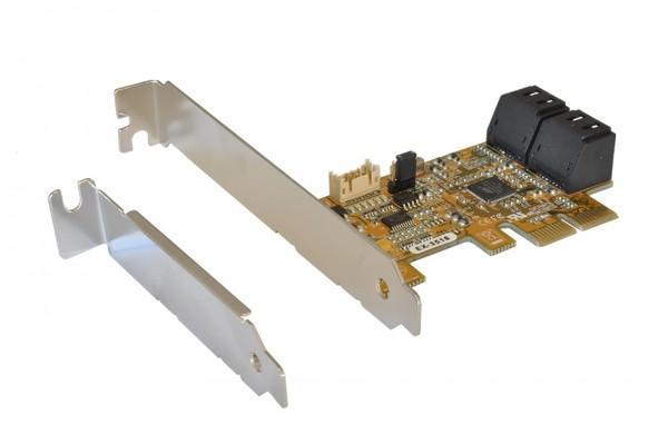 SATA 3 PCI Express RAID 0/1 Controller für 4HDD
