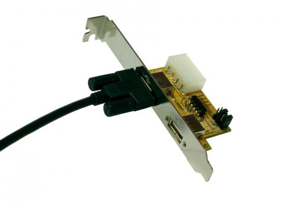 USB 2.0 Adapter Intern/Extern, verschraubbar