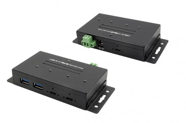 4 Port USB 3.1 (Gen2), Metal HUB, 2 x C-Down