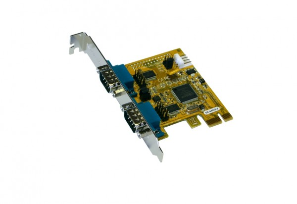 PCIe 2S Seriell RS-232 Karte, MosChip