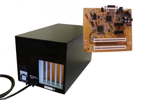 Expansion Box mit 2 x PCI & PCIe-Slots, 38cm länge, internes 220W Netzteil