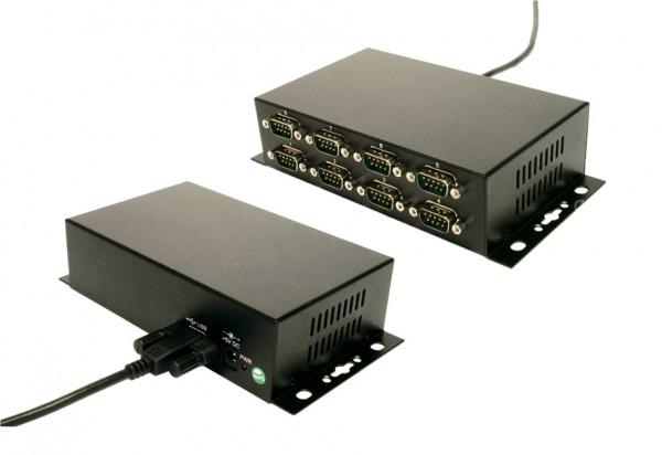 USB zu 8S RS-232, Verschraubbar, Metall, FTDI
