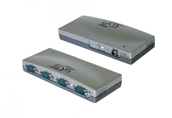 USB zu 4S RS-232, Verschraubbar, Plastik, FTDI