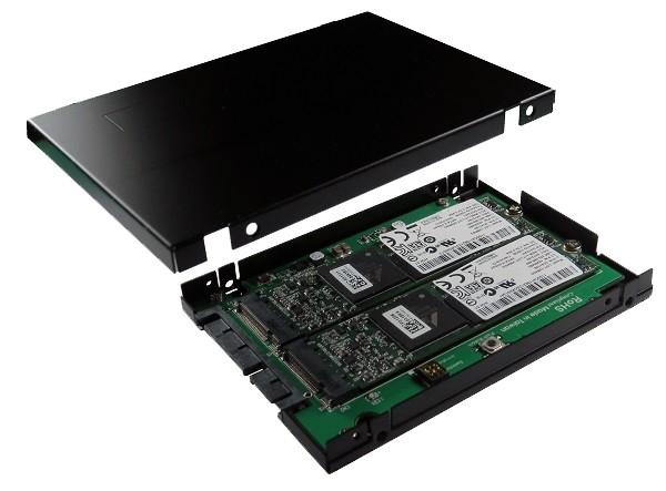 """SATA 3 für M.2 SSD x 2 Enclosure RAID, 2.5"""""""