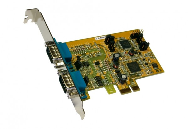 PCIe 2S Seriell RS-422/485, Oxford Chip-Set