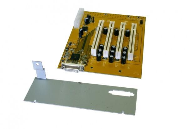 Expansion Board mit 4 x PCI Slots für ATX Gehäuse