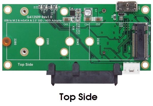 USB 3.1 Micro-B für M.2 oder mSATA SSD & SATA