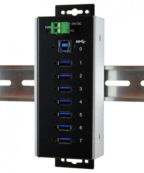 USB 3.0 Metall-HUB mit 7 Ports, -40°C~+85°C