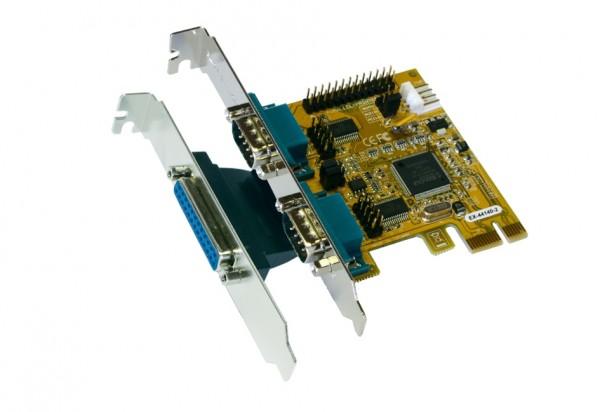 PCIe 2S Seriell RS-232/1P Multi I/O Karte, MosChip