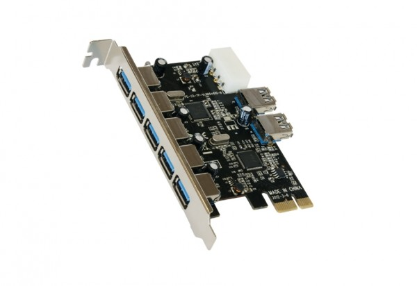 USB 3.0 PCI-Express Karte mit 5+2 Ports (VIA)
