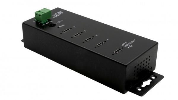 4 x C-Ports USB 3.2 Gen1 Metall HUB mit 15KV ESD Überspannungs-Schutz