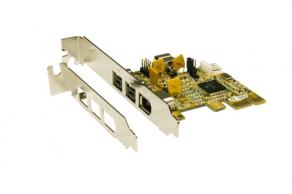PCI-Express FireWire 1394B Karte mit 3 Ports (TI)