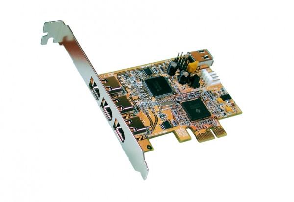 FireWire 1394A PCIe Karte mit 3+1 Ports (TI)