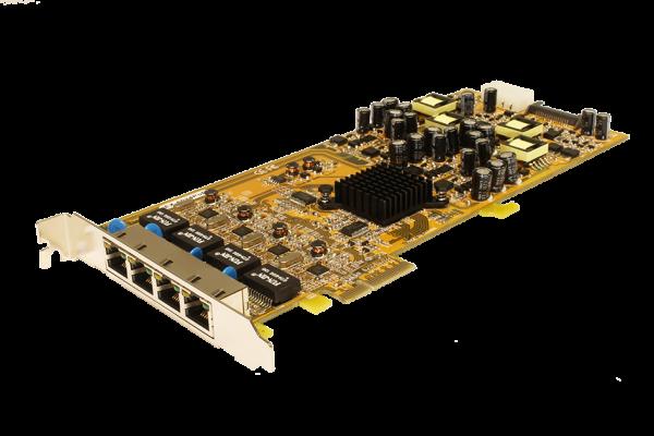 PCIe Quad Netzwerk-Karte mit 4 x 1Gigabit, PoE