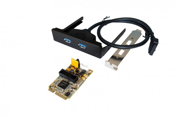 Mini PCIe USB 3.0 Karte mit 2 Ports (Renesas)