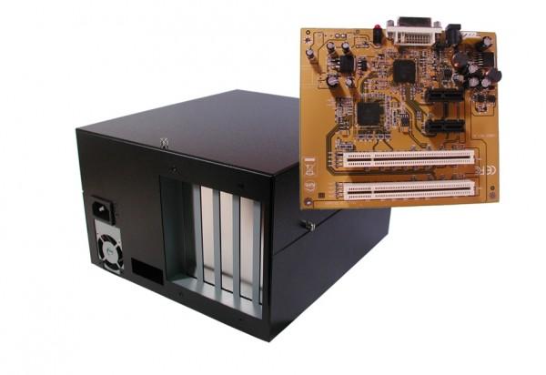 Expansion Box mit 2 x PCI & PCIe-Slots, 25cm, 220W Netzteil
