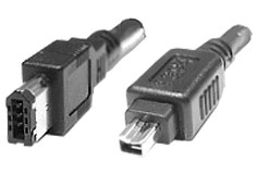 FireWire 1394A Anschlusskabel 6/4, 2.0 Meter