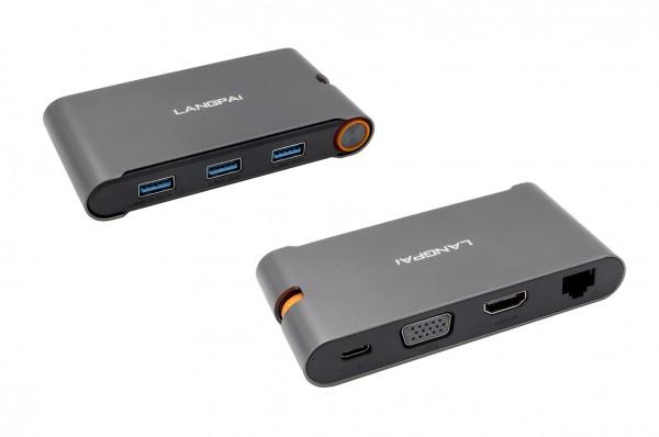 USB 3.2 Gen1 Metall HUB mit 7 in 1 Ports für Notebook, Matebook und MacBook