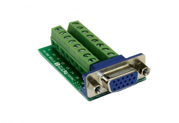 Adapter 15 Pin VGA Buchse zu 16 Pin Terminal Block