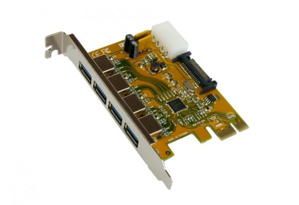 USB 3.0 PCI-Express Karte mit 4 Ports (Renesas)