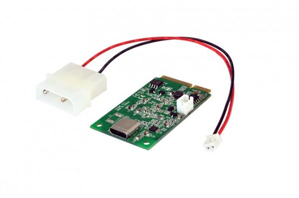 Mini PCIe USB 3.1 (Gen2) Karte mit 1 Ports