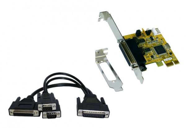 2S / 1P PCI-Express Multi I/O-Karte, Octopuskabel