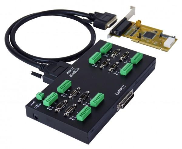 PCI 8S Seriell RS-232/422/485 Module, 2.5KV Opto.