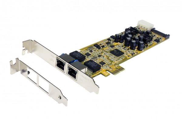 PCIe Dual Netzwerk-Karte mit 2 x 1Gigabit, PoE