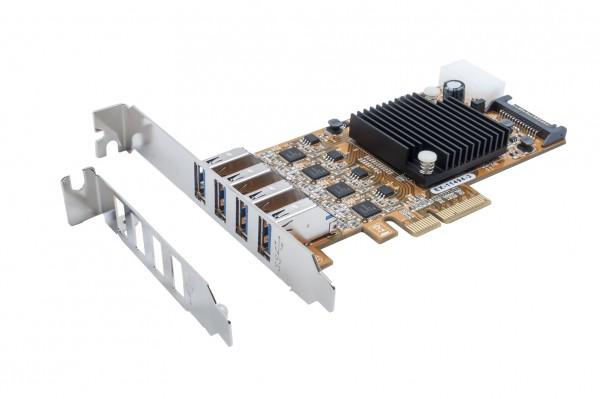 USB 3.2 Gen1 Quad PCIe x4 Karte (Renesas)