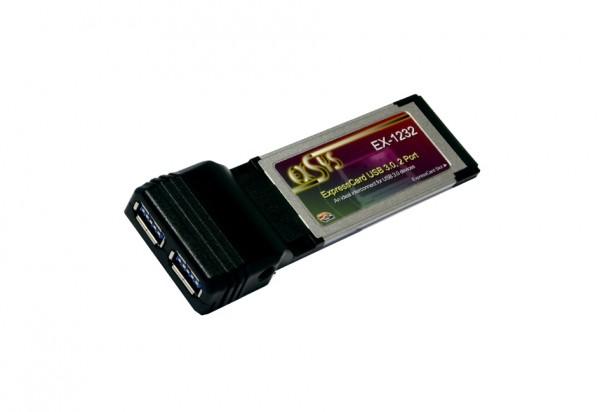 ExpressCard USB 3.2 Gen1 mit 2 Ports (NEC Chip-Set)