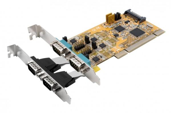 4S Seriell RS-232/422/485 PCI Karte, POS einstellbar (FTDI Chip-Set)