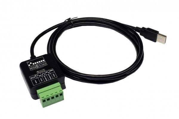 USB 2.0 zu 1 x Seriell RS-232/422/485 Port mit TB 5 Pin Anschluss (FTDI Chip-Set)