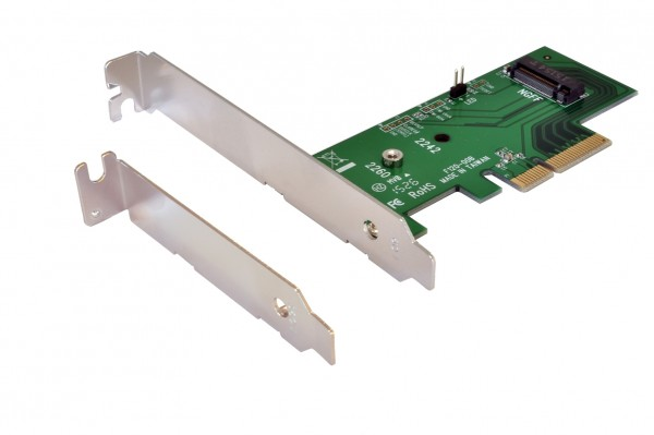 PCIe x4 to PCIeM.2.NGFF LP Adapter
