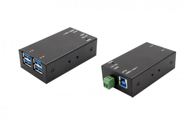 4 Port Kleinster USB 3.0 Metall HUB
