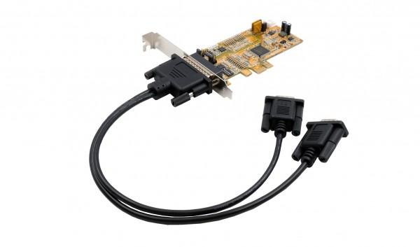PCIe 2S Seriell RS-232/422/485, Surge, LP, (ASIX)