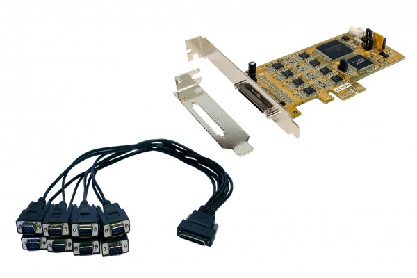 PCIe 8S Seriell RS-232/422/485, LP, SystemBase