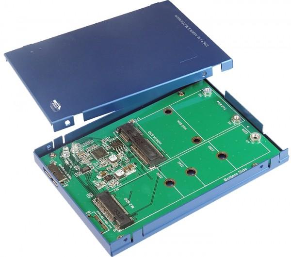 USB 3.1(Gen2) zu M.2 & mSATA SSD Gehäuse/B-micro
