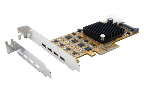 USB 3.2 Gen1 Quad PCIe x4 Karte (Renesas), C-Anschluss