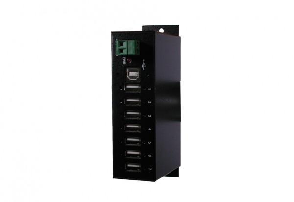 7 Port USB 2.0 Metall HUB, verschraubbar, Din-Rail